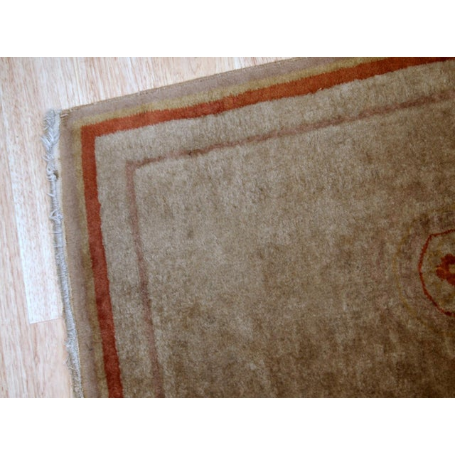 Art Deco 1970s, Handmade Vintage Art Deco Chinese Rug 2.1' X 3.2' For Sale - Image 3 of 8