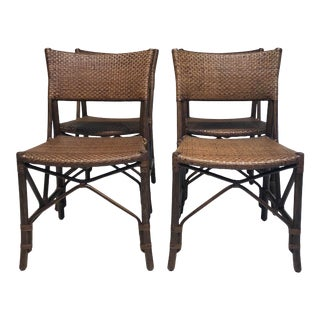 Panini Dining Chairs in Coriander Rattan - Set of 4 For Sale