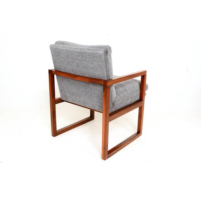 Pair of Mid-Century Modern Walnut Armchairs For Sale In San Diego - Image 6 of 9