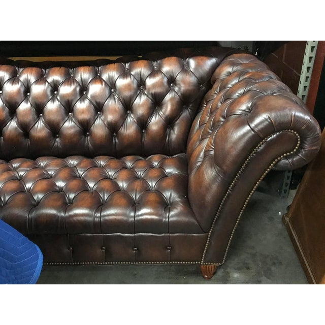 Sumptuous Leather Chesterfield Sofa With Rolled Arms For Sale - Image 10 of 13