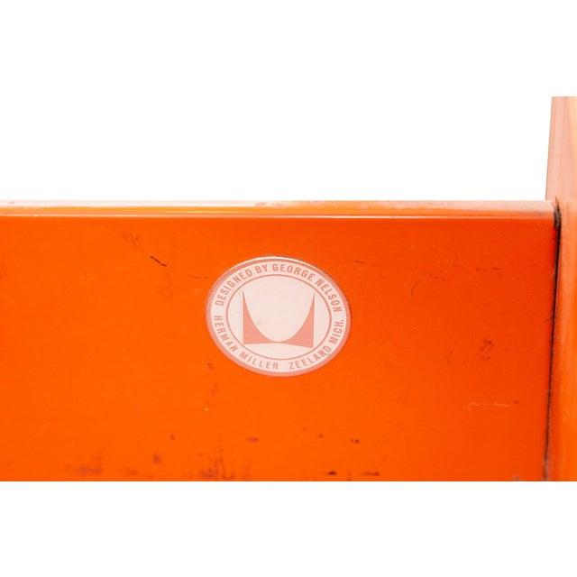 Orange George Nelson Herman Miller Modern Management Desk & Return - 2 Pc. Set For Sale - Image 8 of 9