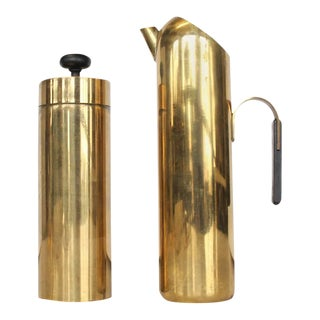 Mid-Century Italian Brass Cocktail Set - A Pair For Sale