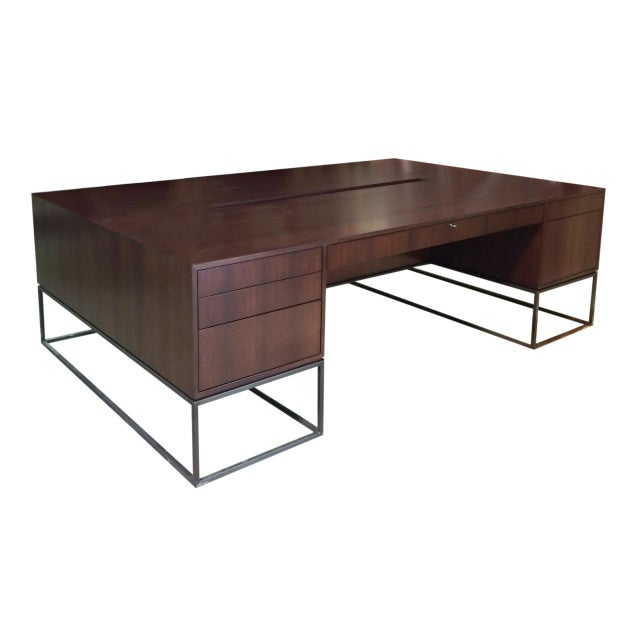 2010s Maxine Snider Inc. Library Partner's Desk For Sale - Image 5 of 5