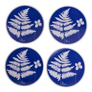 Madcap Cottage Ceramic Botanical Vera Dinner Plates, S/4 For Sale