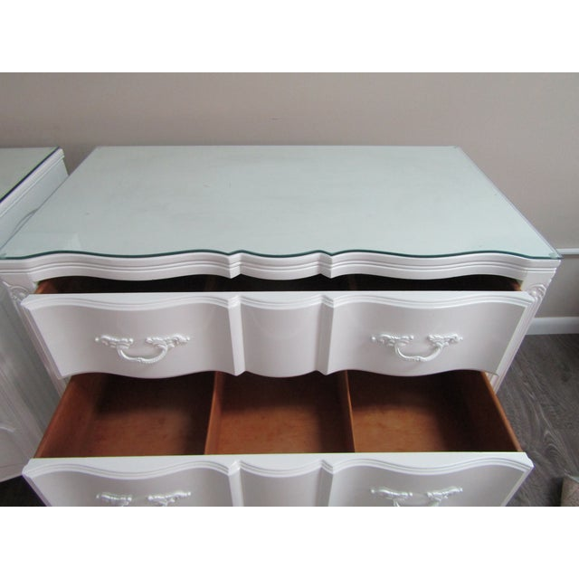 Vintage French Glass Top Chest-A Pair For Sale - Image 4 of 9