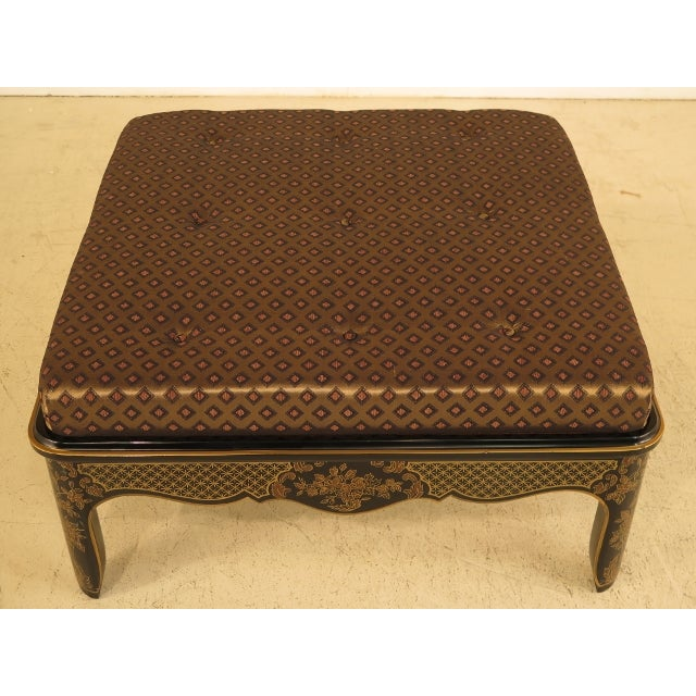 Chinoiserie Large Upholstered Chinoiserie Bench For Sale - Image 3 of 11