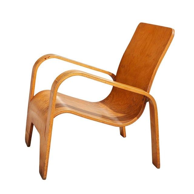 """1940s """"Lawo"""" Lounge Chair by Han Pieck For Sale - Image 5 of 10"""