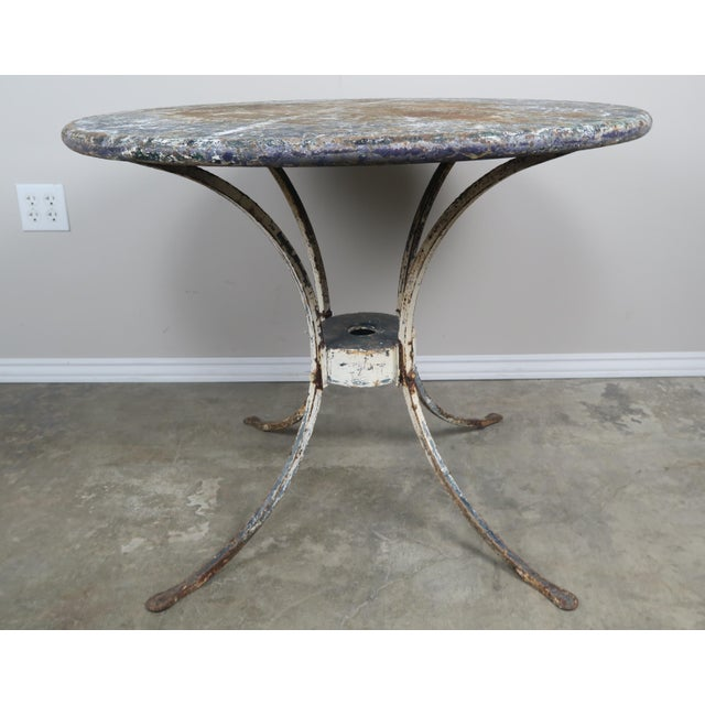 French Painted Metal Garden Table For Sale - Image 3 of 8