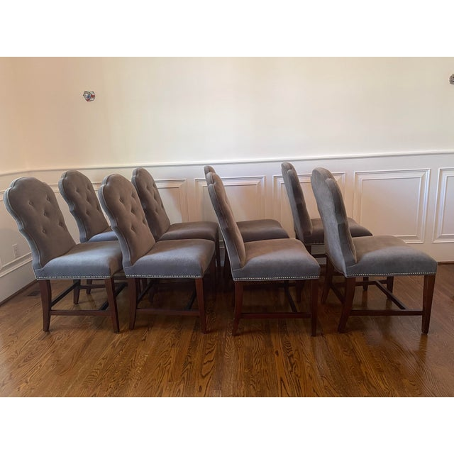 Lillian August Arden Park dining chairs, set of 8. CHAIR FEATURES Tight Seat Buttoned Back Tapered Wood Legs with...