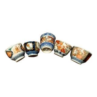 Mid 20th Century Antique Imari Sake Cups - Set of 5 For Sale