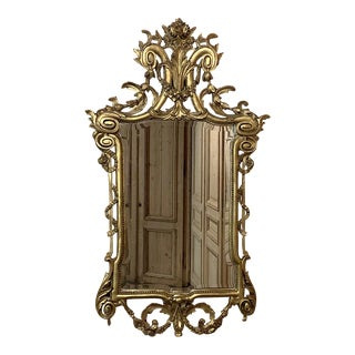 19th Century Italian Neoclassical Carved Giltwood Mirror For Sale