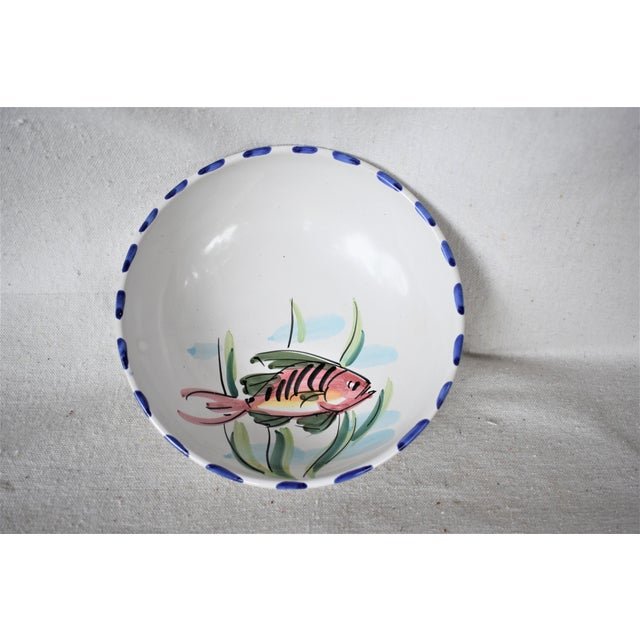 Vietri Fish Decorated Bowl For Sale - Image 4 of 8