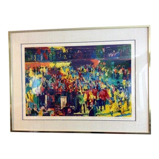 Leroy Neiman Signed Serigraph, Chicago Board of Trade Financial Exchanges For Sale