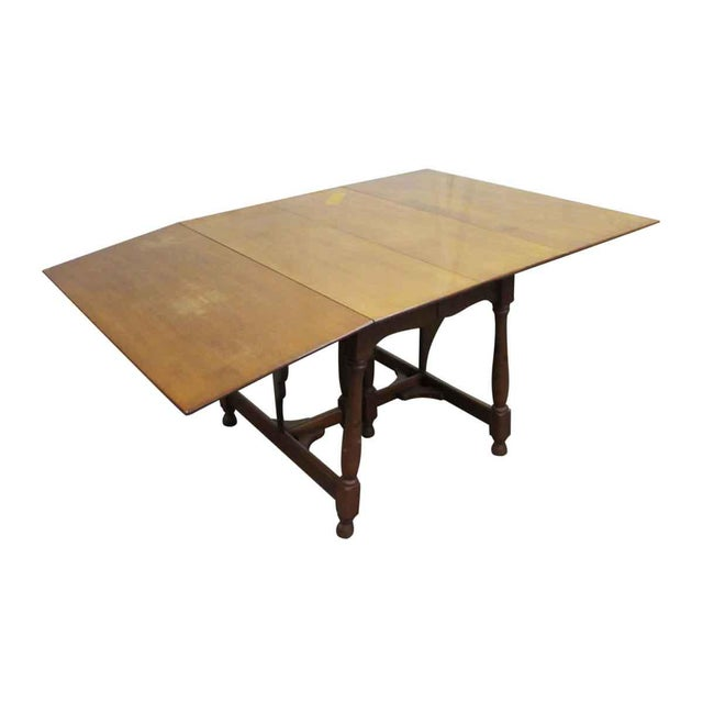 Wood Antique Cherry Gate Leg Table For Sale - Image 7 of 7