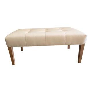 Custom Kravet Leather Bench For Sale