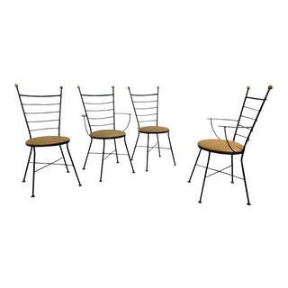 1950s Mid-Century Iron Dining Chairs - Set of 4 For Sale