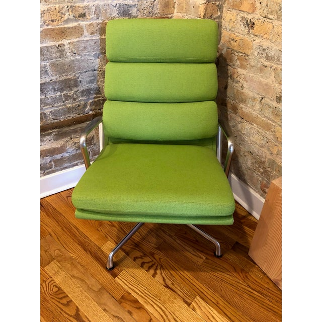 Beautiful neon (green) colored Eames Chairs and Ottoman set in great condition. These are designed by Herman Miller in...