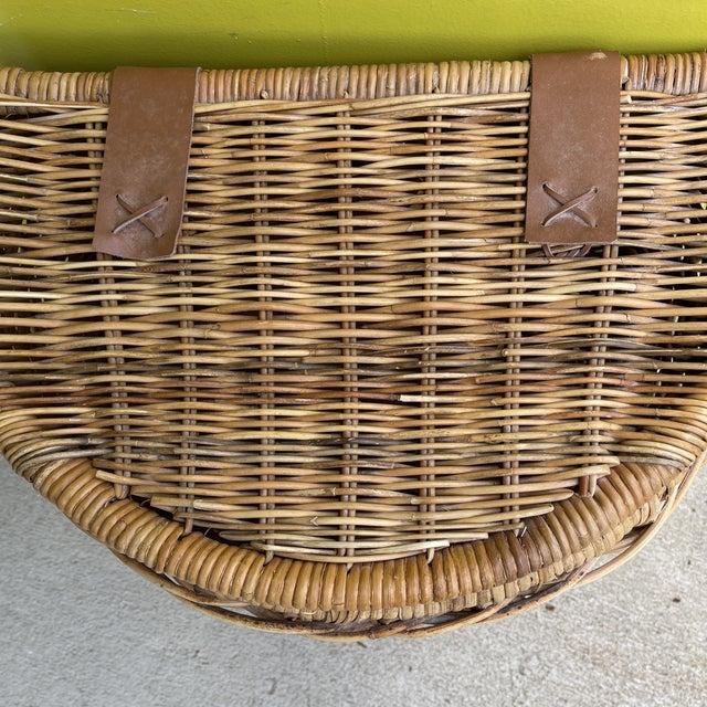 Brown Vintage Wicker Hamper For Sale - Image 8 of 12