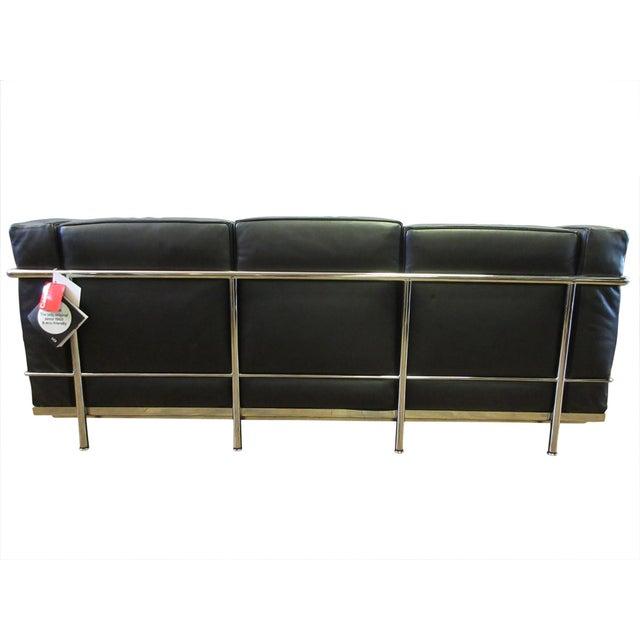 Le Corbusier Cassina Le Corbusier Lc2 3-Seat Sofa For Sale - Image 4 of 12