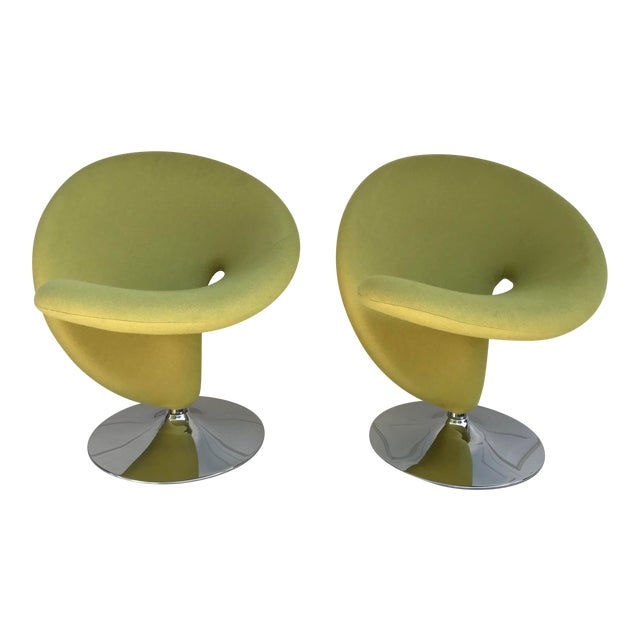 1980s Vintage Post Modern Spiral Chairs- A Pair For Sale