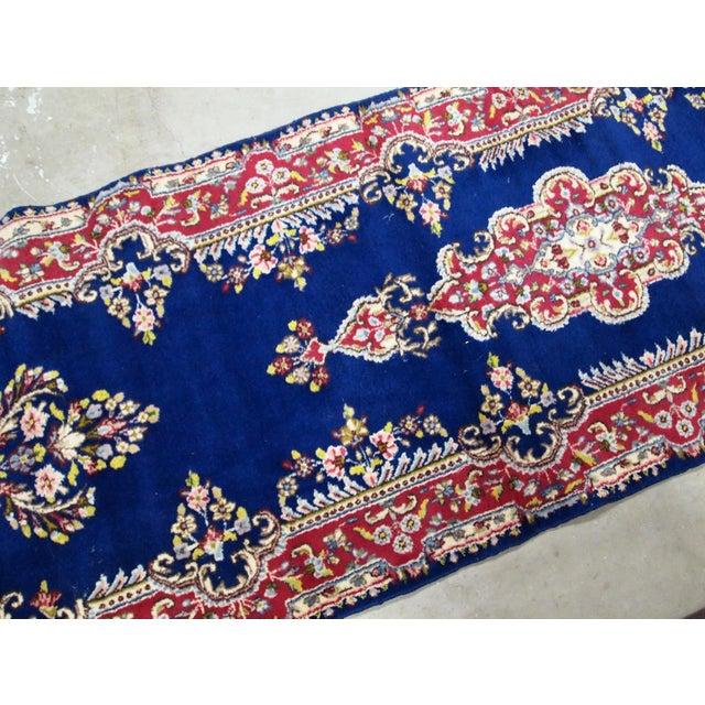 Textile 1930s, Handmade Antique Persian Kerman Runner 2.5' X 8.1' For Sale - Image 7 of 9
