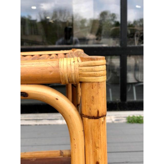 Wood Vintage Rattan Bar/Buffet/Sideboard For Sale - Image 7 of 9