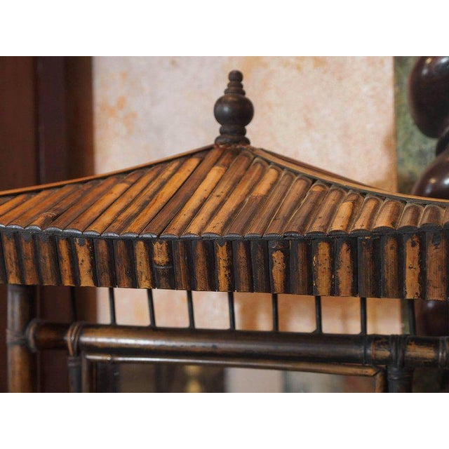Anglo-Chinese Bamboo Pagoda Form Dressing Mirror For Sale - Image 4 of 6