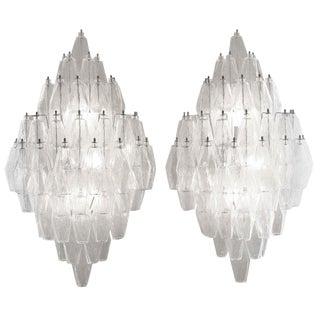 Venini Poliedri Wall Lights - A Pair