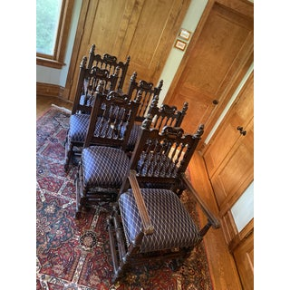 19th Century Gothic Revival Dining Chairs - Set of 6 Preview