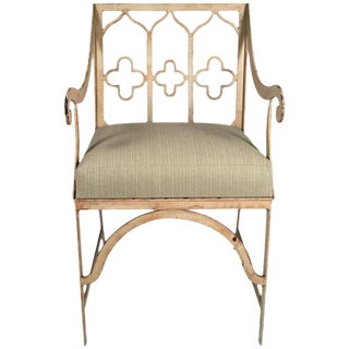 Gothic Revival Iron Garden Chair