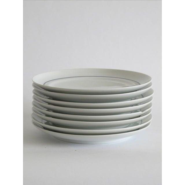 German Blue & White Dessert Plates - Set of 8 - Image 6 of 6