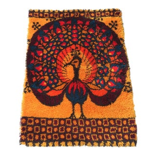 "Rya Rug by Ege Shag Mid Century Modern 52"" X 36"" For Sale"