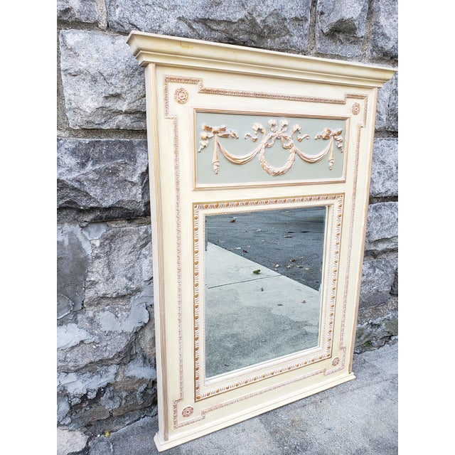 French VintageFrench Provincial Style Mirror For Sale - Image 3 of 13