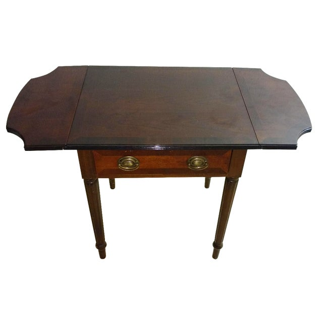 Duncan Phyfe-Style Drop Leaf Side Table - Image 1 of 7