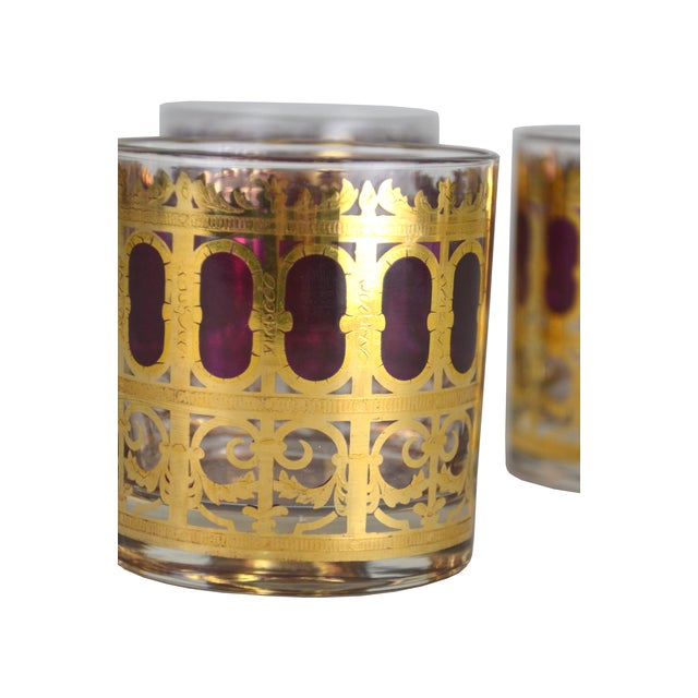 Vintage Metallic Gold Cocktail Glasses - S/4 - Image 3 of 4