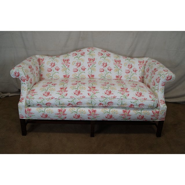 Antique Chippendale Style Mahogany Frame Sofa - Image 5 of 10