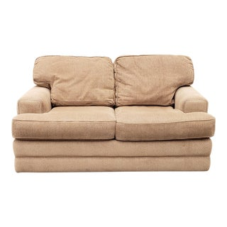 Clean Contemporary La-Z-Boy American Home Collection Upholstered Loveseat Sofa For Sale