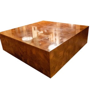 Mid-Century Modern Milo Baughman Burl Wood Coffee Table For Sale