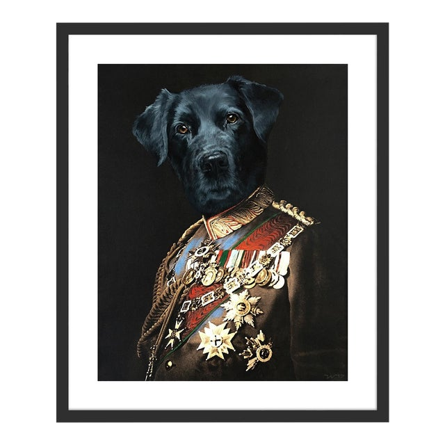 Retriever by Anja Wuelfing in Black Frame, Small Art Print For Sale