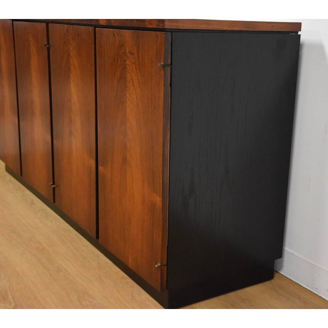 Rosewood Modern Credenza For Sale - Image 4 of 10
