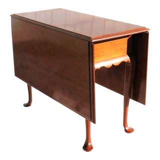 Hand Crafted Queen Anne Style Drop Leaf Table