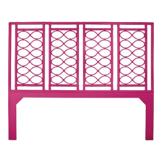 Infinity Headboard King - Bright Pink For Sale