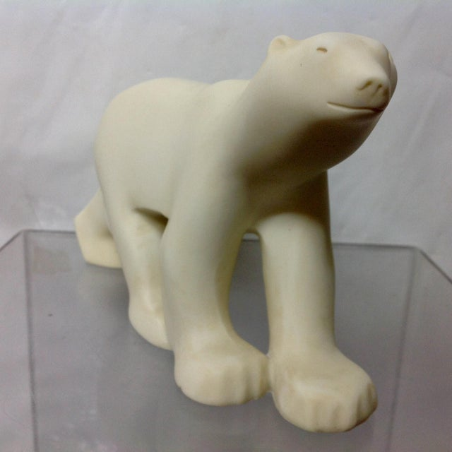 Marble Polar Bear Sculpture After Francois Pompon For Sale - Image 4 of 6