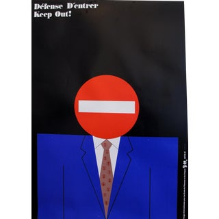 1989 Original Poster for Artis 89's Images Internationales Pour Les Droits De l'Homme Et Du Citoyen - Keep Out For Sale