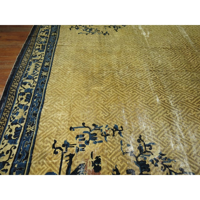 Overisze Antique Chinese Rug, 13'3'' X 17'9'' For Sale - Image 11 of 13