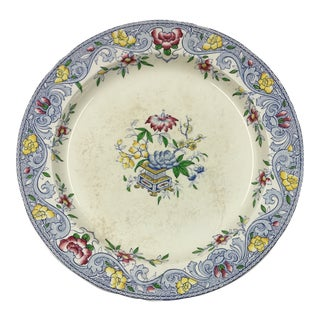 Antique 1860s Minton & Co. Transfer Ware Plate For Sale
