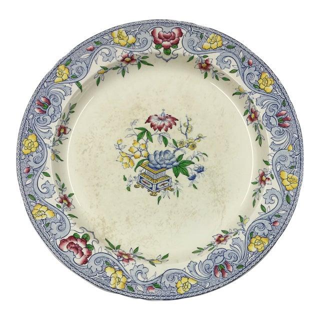 Antique 1860s Minton & Co. Transfer Ware Plate For Sale