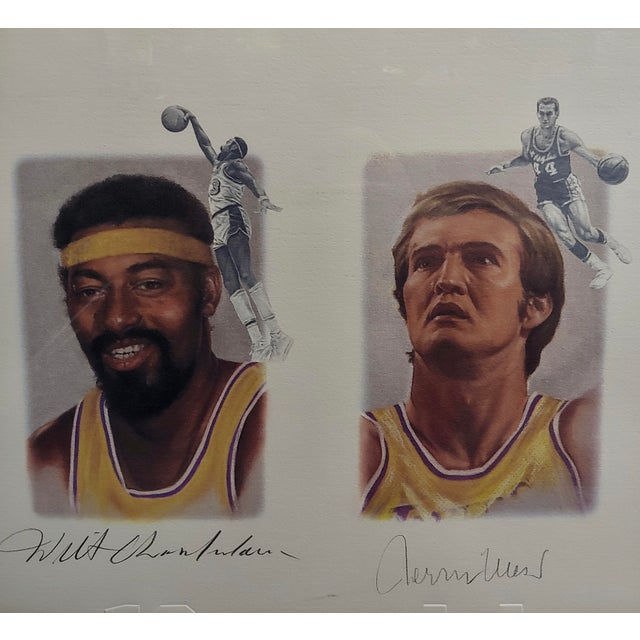 Los Angeles Lakers -Legends-Magic,West,Jabbar,Chamberlain-Signed Lithograph For Sale - Image 4 of 11