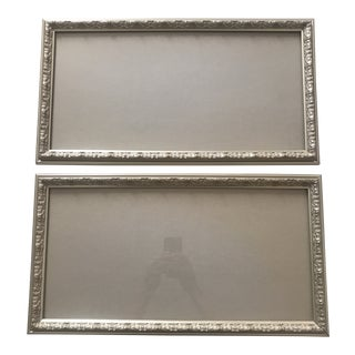 Contemporary Silvered Wood & Gesso Frames - a Pair For Sale