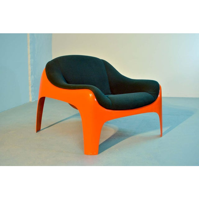 Fabric Iconic Mid -Century Design Italian Fiberglass Lounge Chair by Sergio Mazza for Artemide, 1960s For Sale - Image 7 of 11